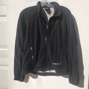 PATAGONIA black fleece zip Jacket Medium m women